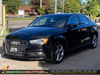 Used 2015 Audi A3 2.0T Komfort|LOW KM|NO ACCIDENT|PANOROOF|CERTIFIED for sale in Oakville, ON