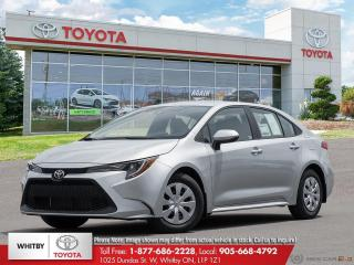 New 2021 Toyota Corolla L for sale in Whitby, ON