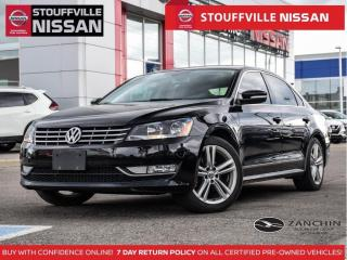 Used 2015 Volkswagen Passat Highline  Leather  18 Alloys  Accident Free  Roof for sale in Stouffville, ON