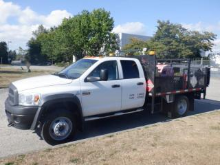 Used 2008 Dodge Ram 4500 Quad Cab Dually 2WD Flat Deck Diesel with Diesel and Gas Pumps for sale in Burnaby, BC