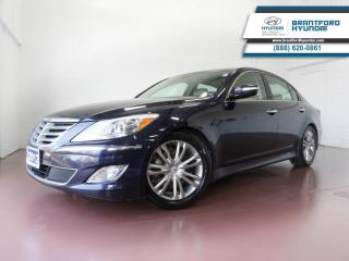 Used 2012 Hyundai Genesis Sedan HTD/VENTED SEATS | NAV | BLUETOOTH | SUNROOF  - $108 B/W for sale in Brantford, ON