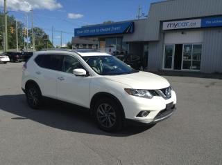 Used 2016 Nissan Rogue SL Premium LEATHER, PANOROOF, NAV, HEATED SEATS, BACKUP CAM!! for sale in Kingston, ON