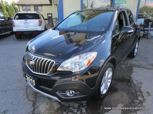2015 Buick Encore LOADED ALL-WHEEL DRIVE 5 PASSENGER 1.4L - TURBO.. LEATHER.. HEATED SEATS.. BACK-UP CAMERA.. BLUETOOTH SYSTEM.. POWER SUNROOF..
