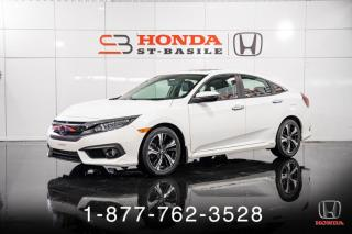 Used 2017 Honda Civic TOURING + AUTO + CUIR + NAVI + TOIT + WO for sale in St-Basile-le-Grand, QC