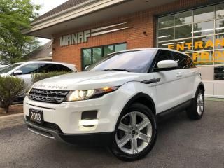 Used 2013 Land Rover Range Rover Evoque Pure Plus Panoramic Sun Rear Cam Heated Seats Cert for sale in Concord, ON