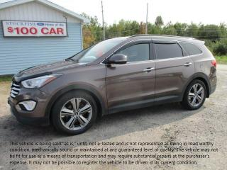 Used 2013 Hyundai Santa Fe LTD w/Saddle Int & Unvented Seat for sale in North Bay, ON