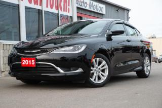 Used 2015 Chrysler 200 Limited BACKUP CAM - GOOD CONDITION - ALLOY WHEELS for sale in Chatham, ON