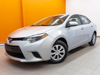 Used 2016 Toyota Corolla CE AUTOMATIQUE *BLUETOOTH* A/C *PORT USB* PROMO for sale in St-Jérôme, QC