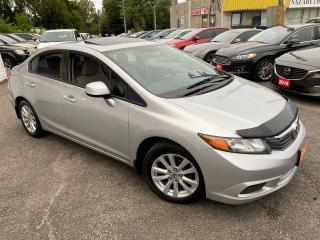 Used 2012 Honda Civic EX/ AUTO/ SUNROOF/ BLUETOOTH/ ALLOYS/ TINTED ++ for sale in Scarborough, ON