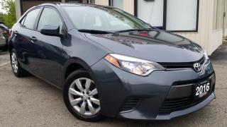 Used 2016 Toyota Corolla LE - BACK-UP CAM! HEATED SEATS! BLUETOOTH! ACCIDENT FREE! for sale in Kitchener, ON