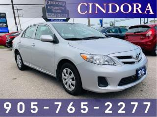 Used 2012 Toyota Corolla Auto, Cloth, Heated Seats, Bluetooth for sale in Caledonia, ON