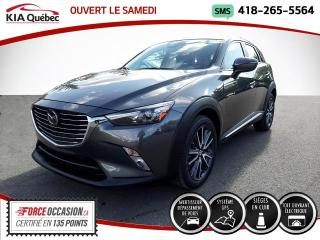 Used 2018 Mazda CX-3 GT* AWD* GPS* TOIT OUVRANT* CAMERA* for sale in Québec, QC