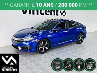 Used 2017 Honda Civic TOURING CUIR GPS ** GARANTIE 10 ANS ** Stylisée, performante, impressionnante, la Civic, la voiture la plus vendue au Canada depuis 1998! for sale in Shawinigan, QC