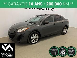 Used 2011 Mazda MAZDA3 GX ** GARANTIE 10 ANS ** Parfait pour petit budget ou étudiant! for sale in Shawinigan, QC