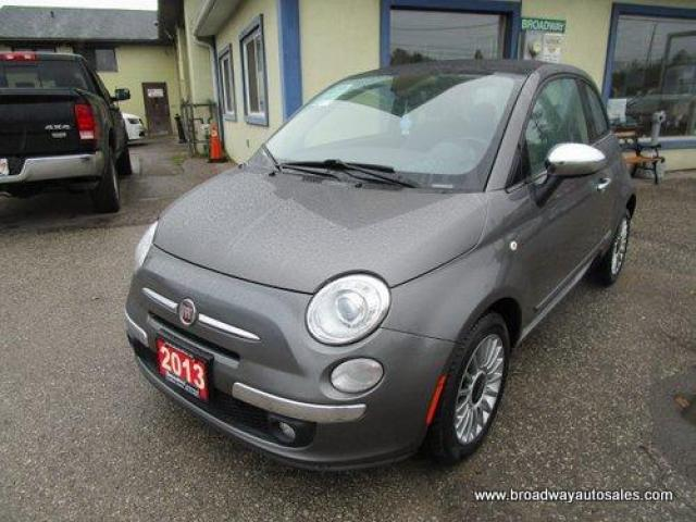 2013 Fiat 500 LOADED LOUNGE-HATCH EDITION 4 PASSENGER 1.4L - 4 CYLINDER.. SPORT-MODE.. LEATHER.. HEATED SEATS.. BLUETOOTH SYSTEM.. CD/AUX/USB INPUT.. KEYLESS..