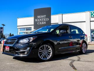 Used 2016 Subaru Impreza LIMITED|HATCHBACK|LANE DEP|ACC|NAV|PADDLE SHIFTERS for sale in Kitchener, ON