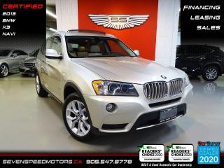 Used 2013 BMW X3 ACCIDENT FREE | NAVI | CERTIFIED | FINANCE @ 4.65% for sale in Oakville, ON