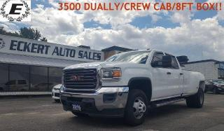Used 2016 GMC Sierra 3500 DUALLY/CREW CAB/8 FOOT BOX!! for sale in Barrie, ON