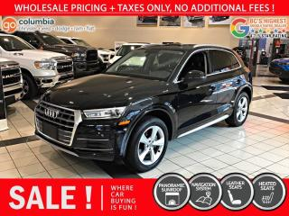 Used 2019 Audi Q5 Progressiv - Accident Free / Local / Nav for sale in Richmond, BC