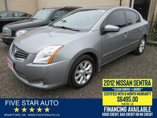 Used 2012 Nissan Sentra 2.0 SL *Clean Carfax* Certified + 6 Month Warranty for sale in Brantford, ON