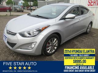 Used 2014 Hyundai Elantra GLS *No Accidents* Certified + 6 Month Warranty for sale in Brantford, ON