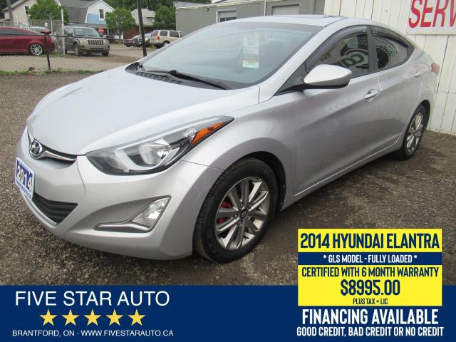 2014 Hyundai Elantra GLS *No Accidents* Certified + 6 Month Warranty