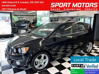 Used 2015 Chevrolet Sonic LT+A/C+Sunroof+Camera+Accident Free for sale in London, ON