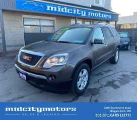 Used 2010 GMC Acadia SLE1 | 7-PASSENGERS | LOW KMs | SAFETY CERTIFIED for sale in Niagara Falls, ON