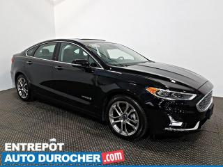 Used 2019 Ford Fusion Hybrid Titanium NAVIGATION - Toit Ouvrant - A/C - Cuir for sale in Laval, QC