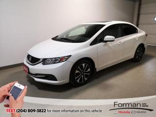 Used 2015 Honda Civic EX|Sunroof|56MPG|Low Kms|Push Button|Alloys for sale in Brandon, MB