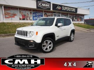 Used 2015 Jeep Renegade Limited  4X4 CAM HTD-SEATS/SW LEATH ROOF for sale in St. Catharines, ON