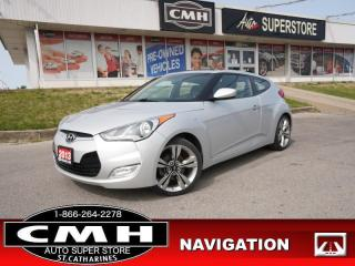 Used 2013 Hyundai Veloster W/TECH  TECH NAV CAM HTD-SEATS BT ROOF for sale in St. Catharines, ON