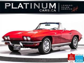 Used 1964 Chevrolet Corvette Stingray, CONVERTIBLE, V8, 365HP, MANUAL, CLASSIC for sale in Toronto, ON