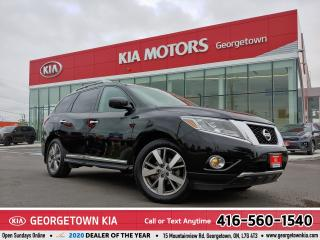 Used 2016 Nissan Pathfinder PLATINUM  | LTHR| NAVI | ROOF| BU CAM | 73K| 7PASS for sale in Georgetown, ON