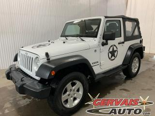 Used 2014 Jeep Wrangler Sport 4X4 Mags Cruise control for sale in Trois-Rivières, QC