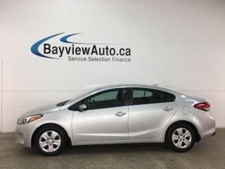 Used 2017 Kia Forte LX - AUTO! A/C! PWR GROUP! TOUCHSCREEN RADIO! for sale in Belleville, ON