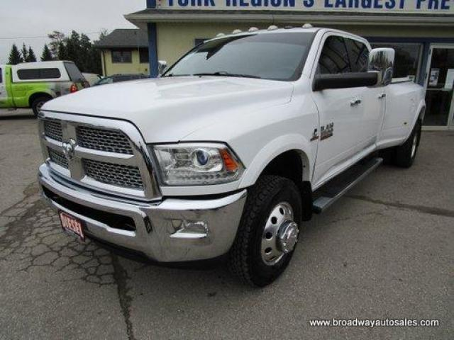 2015 Dodge Ram 3500 1-TON DIESEL LARAMIE EDITION 5 PASSENGER 6.7L - CUMMINS.. 4X4.. CREW-CAB.. 8-FOOT DUALLY.. NAVIGATION.. LEATHER.. HEATED/AC SEATS.. BACK-UP CAMERA..
