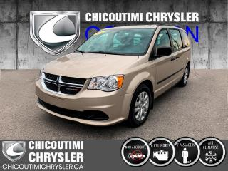 Used 2016 Dodge Grand Caravan Ensemble Valeur plus familiale 4 portes for sale in Chicoutimi, QC