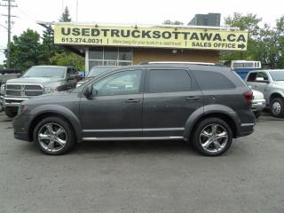 Used 2017 Dodge Journey Crossroad LEATHER,ROOF,BACK UP CAM LOW KM for sale in Ottawa, ON