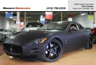 Used 2008 Maserati GranTurismo - MATTE BLACK|NAVIGATION|NICHE RIMS|SPORT EXHAUST for sale in North York, ON