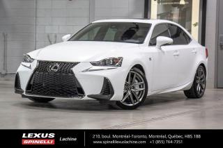 Used 2017 Lexus IS 300 F SPORT II AWD; CUIR TOIT GPS ANGLES MORT LSS+ NAVIGATION - MOTEUR 255 CH - TOIT-OUVRANT - VOLANT CHAUFFANT - SIÈGES CHAUFFANT ET VENTILÉ for sale in Lachine, QC
