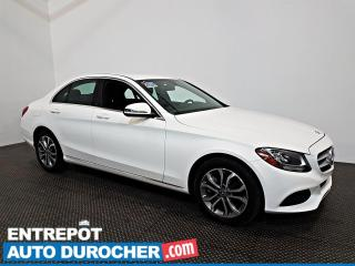 Used 2017 Mercedes-Benz C-Class C 300 AWD AIR CLIMATISÉ - Sièges Chauffants - CUIR for sale in Laval, QC