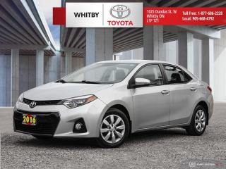 Used 2016 Toyota Corolla S for sale in Whitby, ON