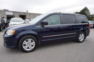 Used 2014 Dodge Grand Caravan CREW NAVI CAMERA LEATHER CERTIFIED 2YR WARRANTY BLUETOOTH LANE ALERT for sale in Milton, ON