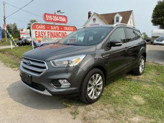 Used 2017 Ford Escape Titanium call/text 5197327478. Navigation, Memory Seating, Panoramic Roof and much more. for sale in Brantford, ON