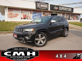 Used 2014 Jeep Grand Cherokee Overland  DIESEL NAV CAM PANO CLD-SEATS for sale in St. Catharines, ON