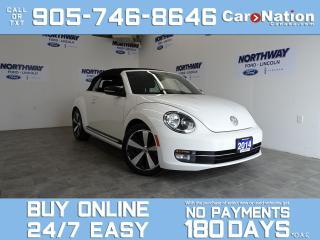 Used 2014 Volkswagen Beetle Convertible SPORTLINE | TURBO |  CONVERTIBLE | LEATHER | NAV for sale in Brantford, ON