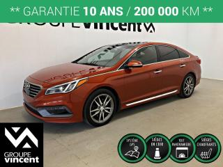 Used 2015 Hyundai Sonata 2.0T ULTIMATE CUIR GPS ** GARANTIE 10 ANS ** Apparence exclusive, confortable et tout équipé! for sale in Shawinigan, QC