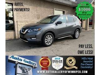Used 2019 Nissan Rogue SV* Awd/B.cam/B.tooth/Htd seats for sale in Winnipeg, MB