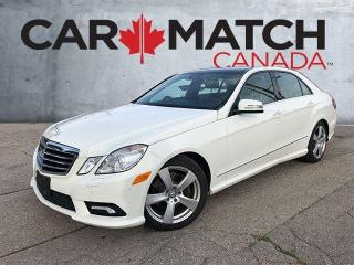 Used 2010 Mercedes-Benz E-Class E350 / NO ACCIDENTS / AWD / NAV for sale in Cambridge, ON